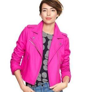GAP | Pink Wool Blend Moto Jacket